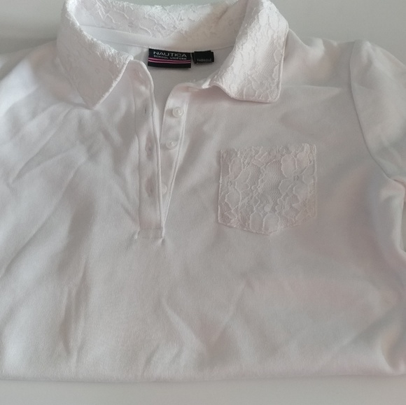 Nautica Other - Girls size 8-10 short sleeve polo with lace